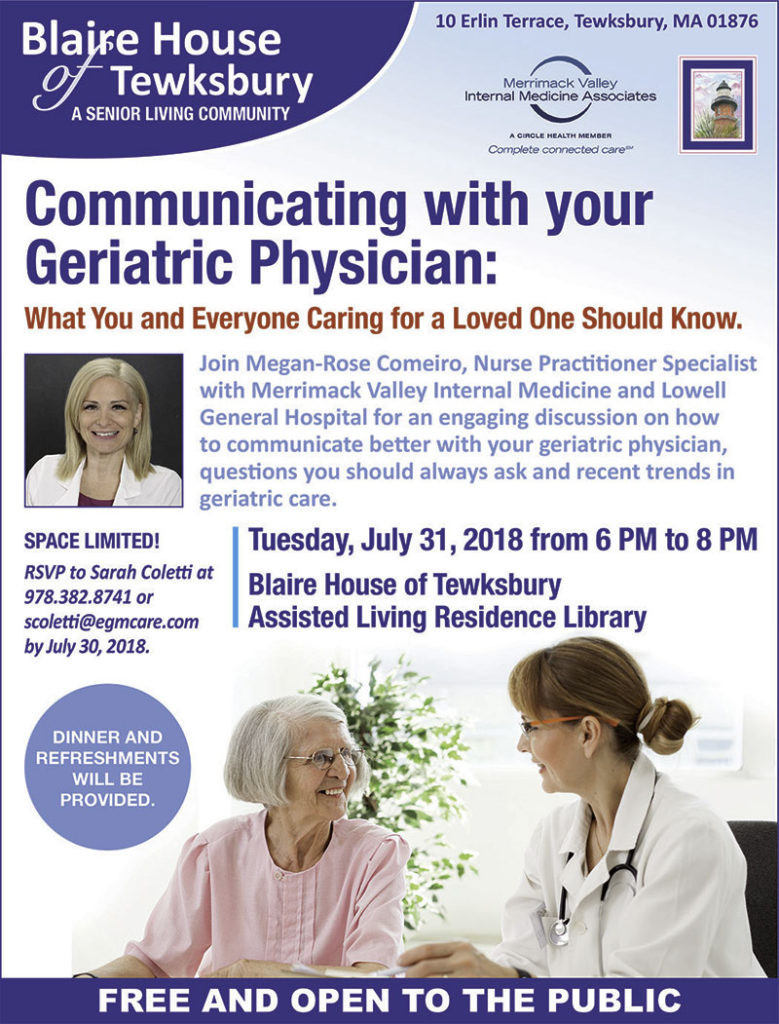 Communicating with your geriatric physician